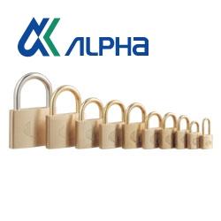 ALPHA,アルファ 南京錠 ノーマルタイプ 1000シリーズ各種