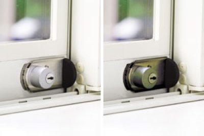 画像1: ファスナーロック 鍵付き/なし シルバー/ブロンズ