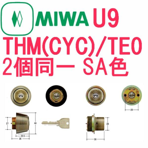 画像1: MIWA,美和ロック U9 THM(CYC)・TE0 SA色2個同一シリンダー MCY-459 (1)