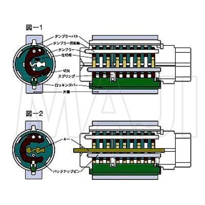 画像1: MCY-444 DDZZ1003 MIWA,美和ロック トステム用URシリンダー