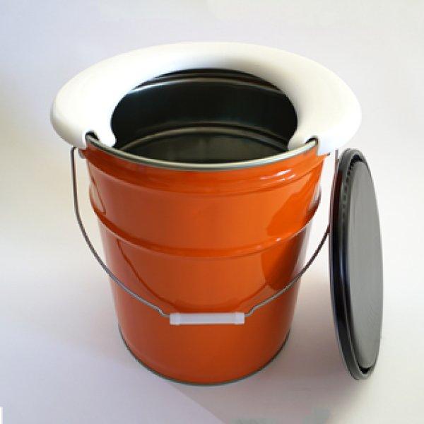 画像1: マイレット(Mylet)非常時トイレ処理セット マイペール(ペール缶トイレ) (1)