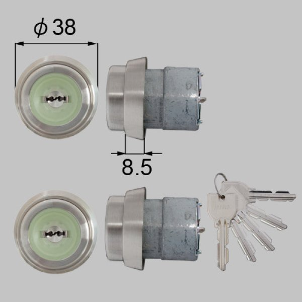 画像1: TOSTEM,トステム MIWA URシリンダー ドア錠セット 内筒のみ N2EZ0021 (1)