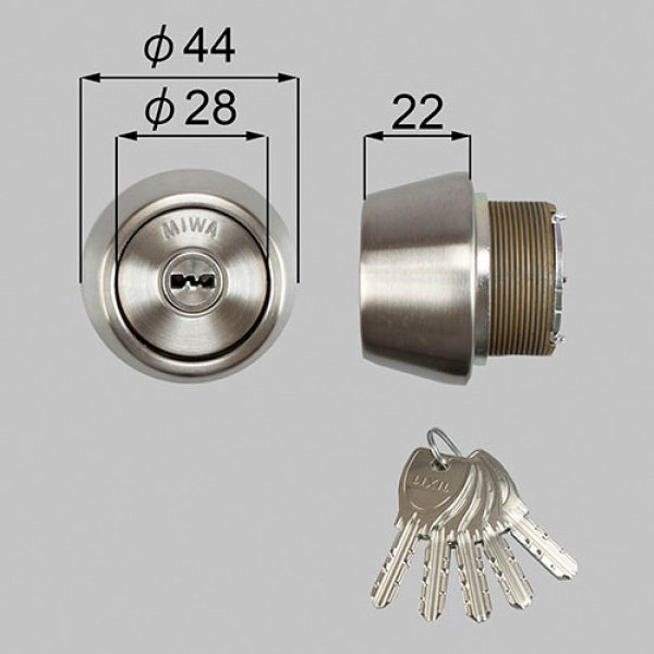 画像1: TOSTEM,トステム DNシリンダー ドア錠セット (1)