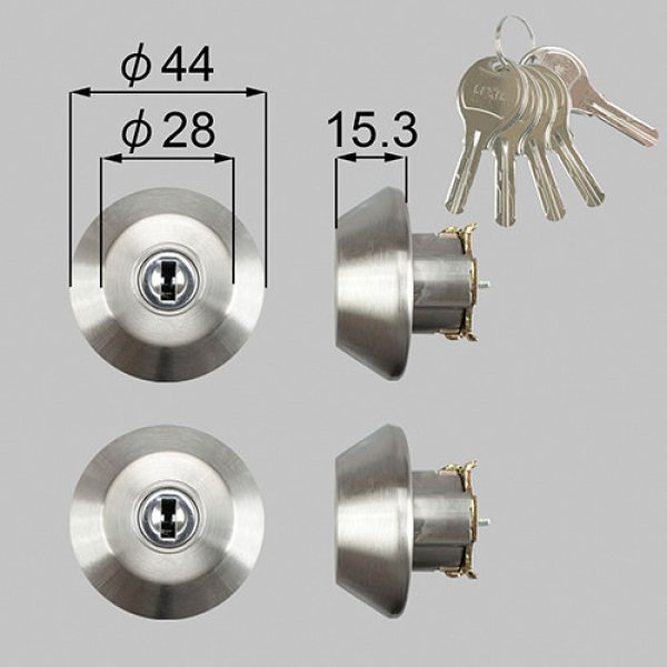 画像1: TOSTEM,トステム WNシリンダー ドア錠セット 二個同一 (1)