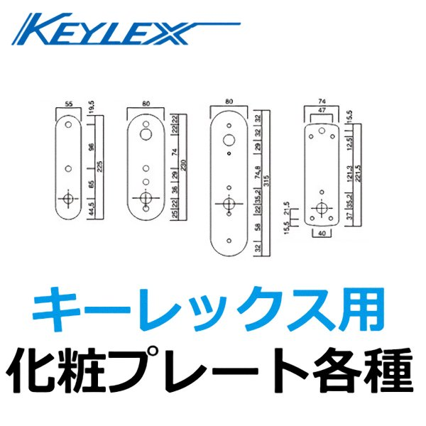 画像1: KEYLEX,キーレックス化粧プレート (1)
