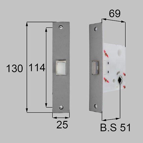 画像1: LIXIL,リクシル TOSTEM,トステム MDU525A 長座/丸座・角座用箱錠(錠無し用) (1)