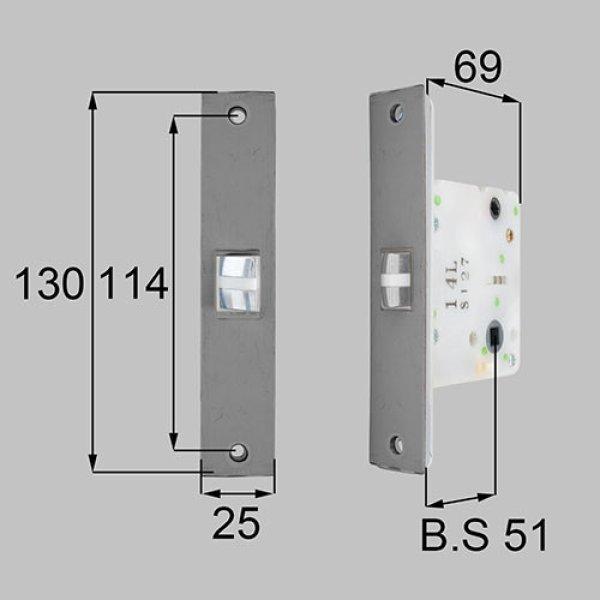 画像1: LIXIL,リクシル TOSTEM,トステム MDU473A 丸座・角座用箱錠(アルミ扉・錠付き用)  (1)