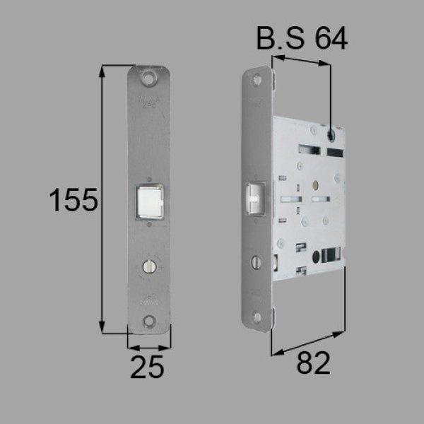 画像1: LIXIL,リクシル TOSTEM,トステム MDT172 プッシュプルハンドル箱錠 (1)