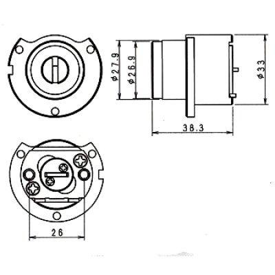 画像1: WEST,ウエスト リプレイス 917-442美和ロック(MIWA)新日軽,三協,トステム鍵交換用