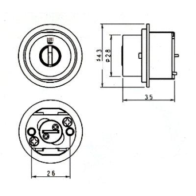 画像1: WEST,ウエスト リプレイス MIWA,美和ロックTE0鍵交換用