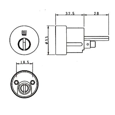 画像1: WEST,ウエスト リプレイス 916-W17(PPA4G)鍵交換用