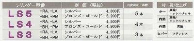 画像1: エージェント,AGENT MIWA,GOAL取替用シリンダー LS5