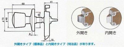 画像1: 川口技研(GIKEN) ホームカラー表示錠I型トイレ用