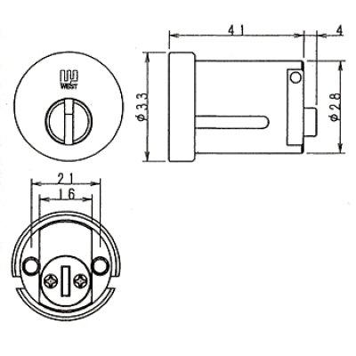 画像1: ウエストリプレイス WEST,ウエスト916-W14(PPA1)セキスイ向け鍵交換用