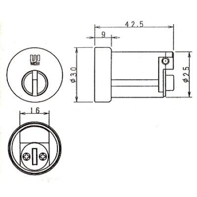 画像1: WEST,ウエスト リプレイス 917-W27(D1505) ミサワホーム,セキスイハウス向鍵交換用
