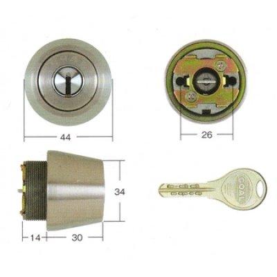 画像2: GOAL,ゴールV-18 MIWA,美和ロック SWLSP(TE22,24、26)交換用シリンダー