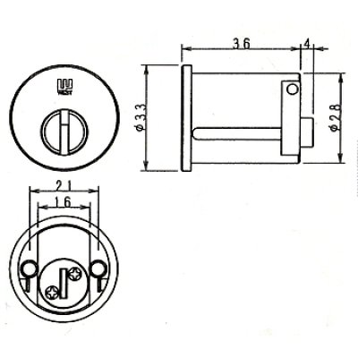 画像1: WEST,ウエスト リプレイス 917-GFA52鍵交換用