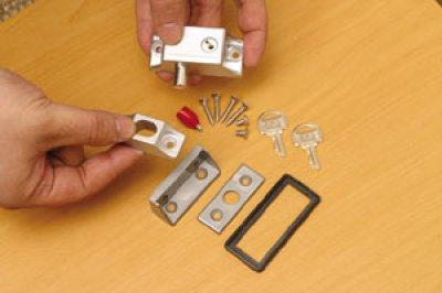 画像3: インサイドロック(シルバー、ブロンズ)補助ロック